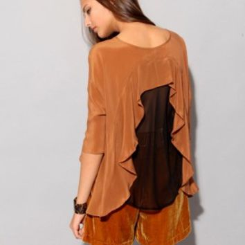 Silk sheer back top [Fun2107] - $40 : Pixie Market, Fashion-Super-Market