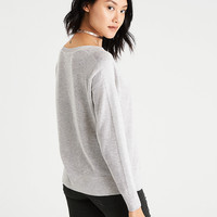 AEO Layer-Perfect Lightweight Sweater, Gray