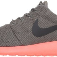 Nike Roshe Run - Soft Grey / Mid Fog-Total Crimson, 10.5 D US