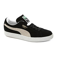 Puma Mens Suede Classic Sneakers - Black/White