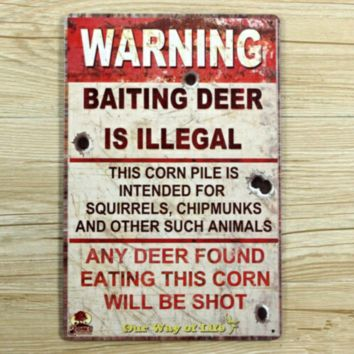 Cabin At Home Collection Deer Hunting Sign