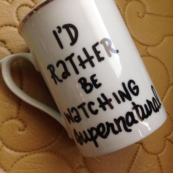 I'd Rather Be Watching Supernatural Mug