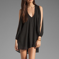 Lovers + Friends Gracie Open Sleeve Babydoll Dress in Black from REVOLVEclothing.com