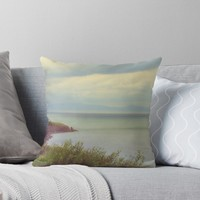 'Atlantic view' Throw Pillow by MarionsArt