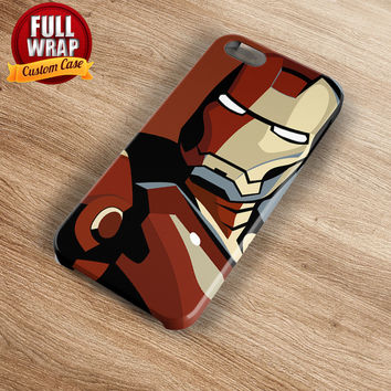 Iron Man Figure 1 Full Wrap Phone Case For iPhone, iPod, Samsung, Sony, HTC, Nexus, LG, and Blackberry