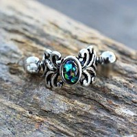 316L Stainless Steel Medieval Design Vine Cartilage Cuff Earring