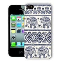 ChiChiC Iphone Case, i phone 4 4g 4s case,Iphone4 iphone4g iphone4s covers, plastic cases back cover skin protector,geometric navy blue white polka dot