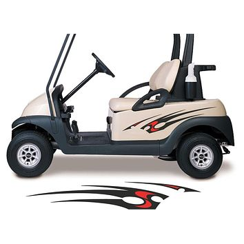 Two Color Golf Cart Decals Accessories Go Kart Stickers Side by Side Graphics GCA1202