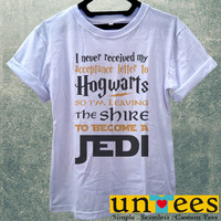 Low Price Women's Adult T-Shirt - Hogwarts Shire Jedi design