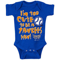 New York Mets Fans. Too Cute Royal Onesuit (NB-18M) Or Toddler Tee (2T-4T) (6M)