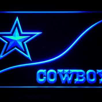 Dallas Cowboys Star & Name LED Neon Sign