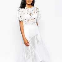 Shakuhachi Perfect Picnic Broderie Anglaise Midi Dress