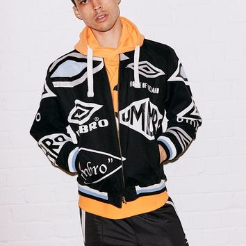 Black Logo Bomber Jacket – House of Holland