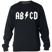 ABCD Rock and Roll Sweatshirt Sweater Crewneck Men or Women Unisex Size