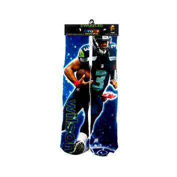 Seattle Seahawks Quater back Russell Wilson sock