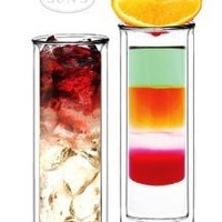 Amazon.com: Sun's Tea (TM) 14oz Strong Double Wall Thermo Pilsner Beer/cocktail/Iced Tea Glasses/champagne flutes, Set of 2: Kitchen & Dining