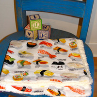 Baby & Toddler Security Blanket Sushi by ChickenandCharlie
