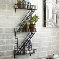 Design Ideas Fire Escape Shelving, Black