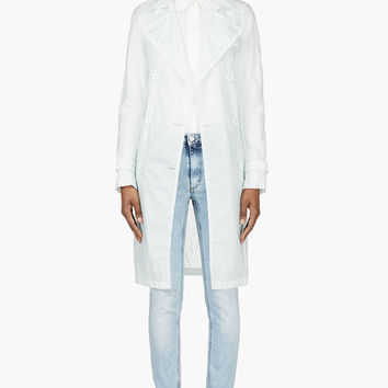 Maison Martin Margiela Mint Translucent Trench Coat
