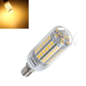 4X E14 5.5W Warm White 828LM 69SMD 5050 LED Corn Light Bulb 220V
