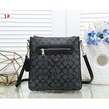 Coach Fashion New Pattern Leather Women Shopping Leisure Shoulder Bag 1#