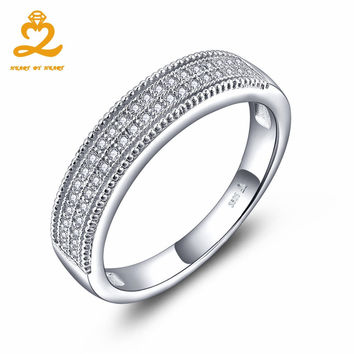 HeartByHeaart Wedding Engagement Ring Real 925 Sterling Silver Rings for Love Men and Woman Fine Jewelry Couple Lover
