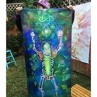 Rick and Morty Towel; Pickle Rick Tapestry; Rick and Morty; Pickle Rick; Beach Towel