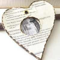 Mothers Day Gift - First Anniversary Gift -  Paper Picture Frame Rustic Wall Plaque