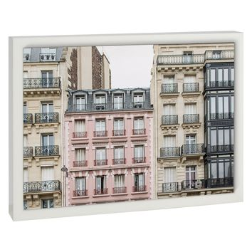 THE PINK APARTMENT BUILDING, PARIS Premium Framed Gallery Wrap By David Phillips