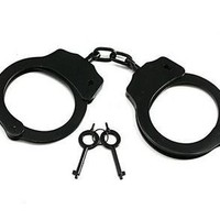 High Quality Made In Taiwan Black Finish Professional Double Locking Handcuffs