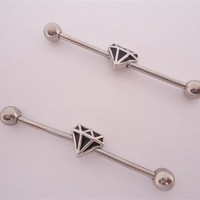 Diamond Industrial Barbell (14 gauge)