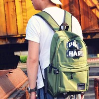 Leisure Men's Play Hard Canvas Travel Bag School Backpack