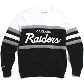 Oakland Raiders Head Coach Crewneck Sweatshirt Black / White