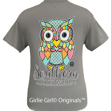 Girlie Girl Originals Preppy Owl Short Sleeve Unisex Fit T-Shirt