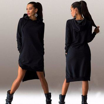 Day-First™ Womens Casual Hoodie Long Sweater Dress
