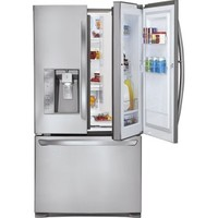 LG - 30.5 Cu. Ft. Door In Door French Door Refrigerator with Ice and Water Dispenser - Stainless-Steel