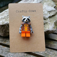 Marvel Rocket Racoon Guardians of the Galaxy brooch badge gotg geek chic marvel lego jewellery