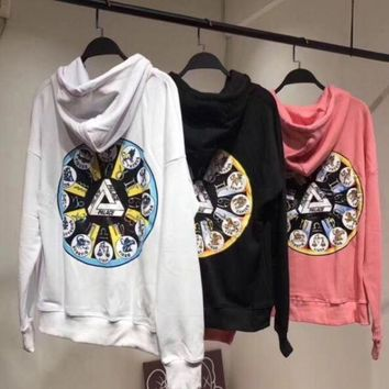 ESBONS PALACE Fashion Constellations Print Hooded Top Sweater Hoodie