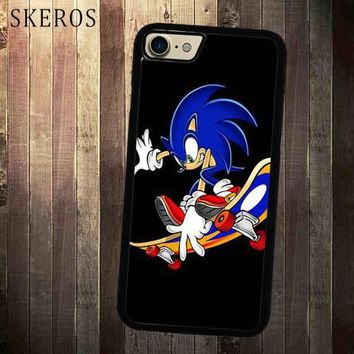 SKEROS Sonic The Hedgehog Skateboard  cover cell phone case for iphone X 4 4s 5 5s 6 6s 7 8 6 plus 6s plus 7 plus 8 plus A269A
