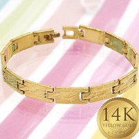 Gold Layered Women Solid Bracelet, by Folks Jewelry