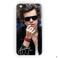 One Direction Harry Styles Black Glasses For iPhone 5 / 5S / 5C Case