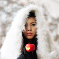 White Faux Fur Wrap Shawl / Snow White in Winter Wonderland Fairytale