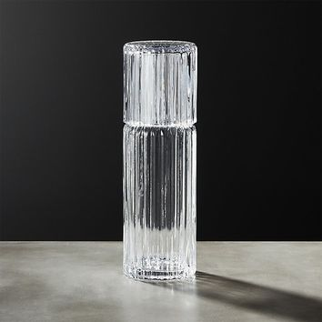 Ribbed Glass Carafe