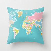 Map Print Throw Pillow by Judy Kaufmann | Society6