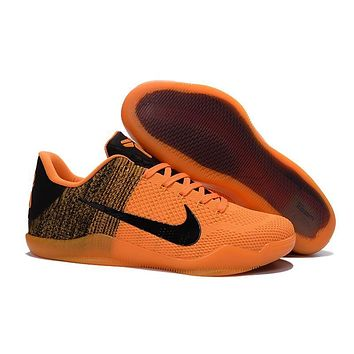 Nike Kobe XI Elite Orange/Black Basketball Trainers Size US7-12