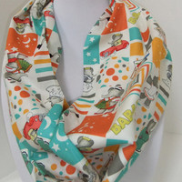 Infinity Scarf - Loop Scarf - Circle Scarf -made by me with Babar fabric - Teacher Appreciation