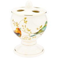 Gilded Bird Toothbrush Holder