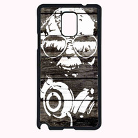 yoda star wars on wood FOR SAMSUNG GALAXY NOTE 4 CASE**AP*