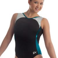 Blue & Black Workout Leotard from GK Elite