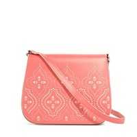 Vera Bradley Coral Laser-Cut Saddle Crossbody